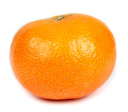 Single tangerine, mandarin  on white background Royalty Free Stock Photo