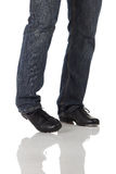 Single tap dancer Stock Photo