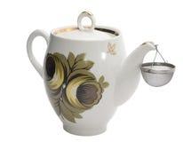 Single teapot. Isolated on white Royalty Free Stock Photo