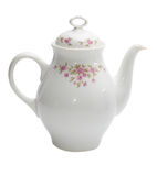 Single teapot. Isolated on white Royalty Free Stock Images
