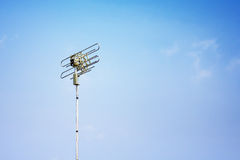 Single Telecoms mast in a rural blue sky landscapesingle Teleco Stock Image