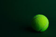 Single tennis ball Stock Images