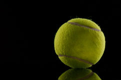 Single tennis ball isolated Royalty Free Stock Photo