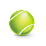 Single tennis ball isolated on white Stock Photography