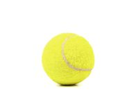 Single tennis ball isolated. Royalty Free Stock Image