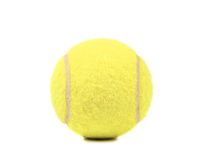 Single tennis ball isolated on a white background Stock Photos