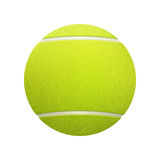 Single tennis ball isolated on white background. Royalty Free Stock Photos