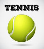 Single tennis ball with text Royalty Free Stock Photography