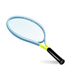Single tennis racket. Isolated on white Royalty Free Stock Images
