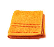 Single terry cloth towel isolated Stock Photography