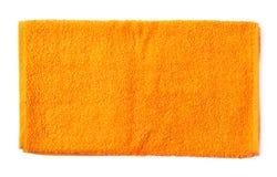 Single terry cloth towel isolated Stock Photos