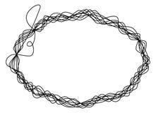 Single thread frame wire ellipse Royalty Free Stock Photo