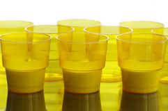 Single-time cups Royalty Free Stock Photos