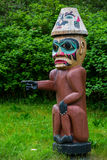Single Tlingit Pointing Figure Stock Photography