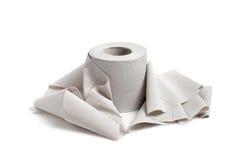 Single toilet paper Stock Photo