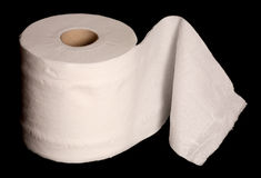Single toilet paper roll Royalty Free Stock Images