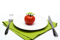 Single tomato Royalty Free Stock Photography