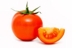 Single tomato isolated on white background Royalty Free Stock Images