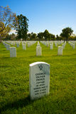 Single Tombstone in the National Cemetery Royalty Free Stock Photo