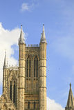 Single Tower of Lincoln Cathedral Royalty Free Stock Image