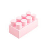 Single toy construction block isolated Royalty Free Stock Image