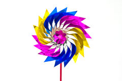 Single toy windmill Royalty Free Stock Photo
