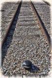 Single-track γραμμή σιδηροδρόμων Στοκ Εικόνες