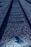 Single-track γραμμή σιδηροδρόμων Στοκ Εικόνα