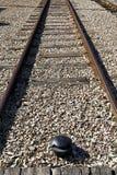 Single-track γραμμή σιδηροδρόμων Στοκ φωτογραφία με δικαίωμα ελεύθερης χρήσης