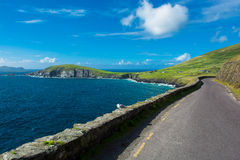 Single Track Coast Road at Slea Head in Ireland Stock Image