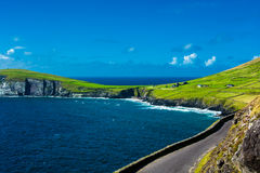 Single Track Coast Road at Slea Head in Ireland Royalty Free Stock Photography