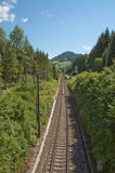 Single track railway Royalty Free Stock Images