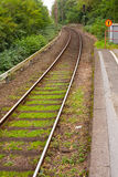 Single track railway stop Stock Image