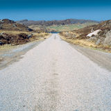 Single track road Royalty Free Stock Photography