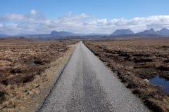 Single track road. Royalty Free Stock Photo