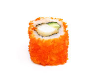 Single traditional japan sushi roll Stock Photo