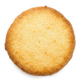 Single traditional round butter biscuit. Stock Image
