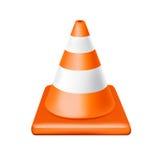 Single traffic cone isolated on white Stock Image