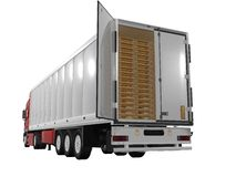 Single trailer Stock Image
