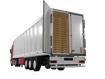Single trailer. On white background Stock Image
