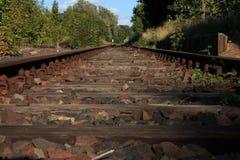 Single Train Track on lost Trainstation royalty free stock photo