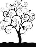 Single tree black Royalty Free Stock Image