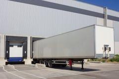 Single truck at loading. Docks Royalty Free Stock Image