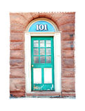 Single Turquoise Door Bordered Photograph Illustration Architecture Artistic Stock Photography