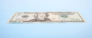 Single twenty dollar note Stock Image