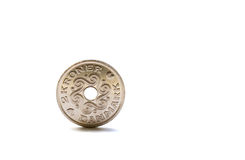 Single two Danish krones coin Stock Photo