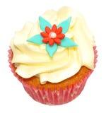 Single Vanilla Cupcake Stock Image