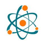 Single vector abstract atom sign icon. Science symbol Stock Illustration