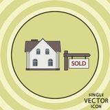 Single vector color flat icon. Real estate for sale. Royalty Free Stock Image