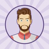 Single vector male avatar. Royalty Free Stock Images